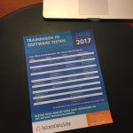 Flyer Trainingen in software testen 2016/2017